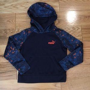 Navy Blue and orange boys Puma hooded sweater 5
